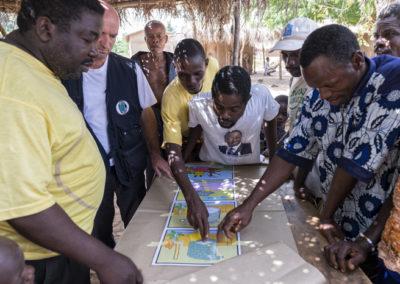 Formation Education préventive communautaire menée par Pompiers Solidaire dans le cadre de sa mission Togo
