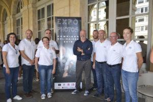Expositin photos organisée par la ville de Bordeaux pour présenter les actions de Pompiers Solidaires