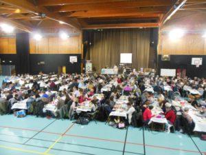 600 personnes réunies pour le loto organisée par la délégation pompiers solidaires pays de Loire