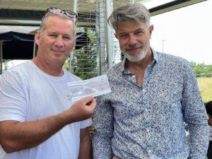 Don de 500 euros fait par le Rotary Club à Pompiers Solidaires